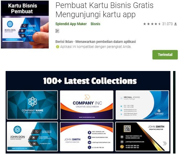 Pembuat Kartu Bisnis Gratis Mengunjungi kartu app