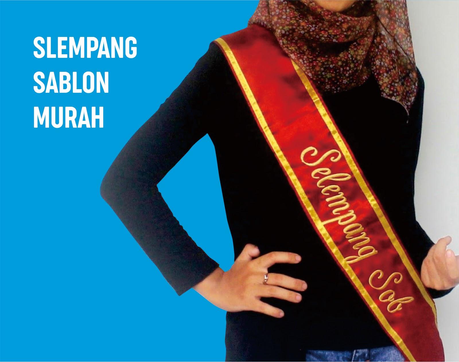 Jasa Konveksi Pembuatan Selempang Bordir & Sablon Gorontalo