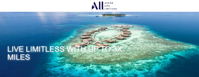 Accor雅高現在預訂最高可賺取三倍Asia Miles亞萬里程(03/23前有效)