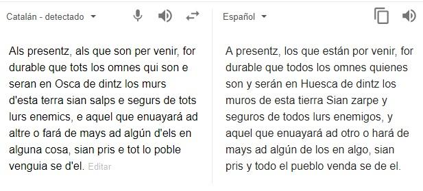 als presentz, google traductor, detecta catalán,