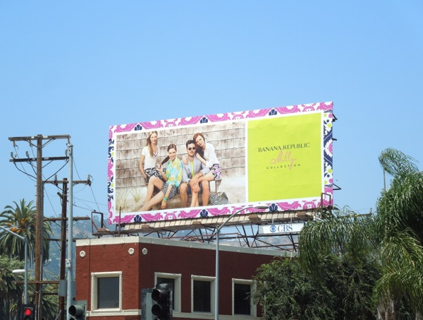 Banana Republic Milly Collection 2013 billboard