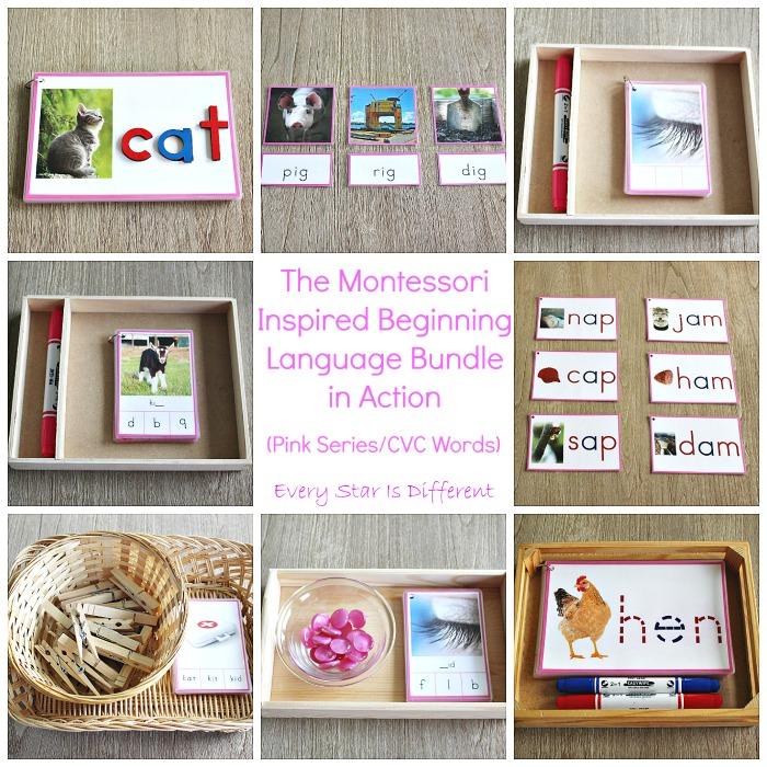 Montessori-inspired Beginning Language Bundle (Pink Series/CVC Words) in Action