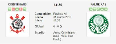 Corinthians vs Palmeiras en VIVO
