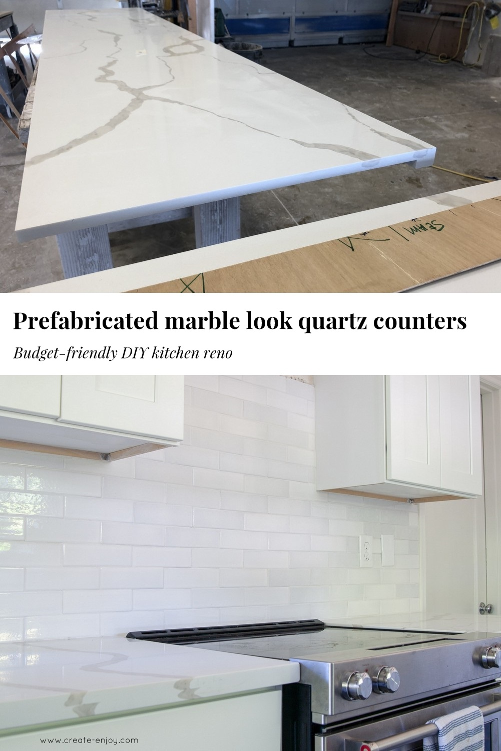 - Prefab Marble Look Countertops - Budget-friendly And DIY-friendly