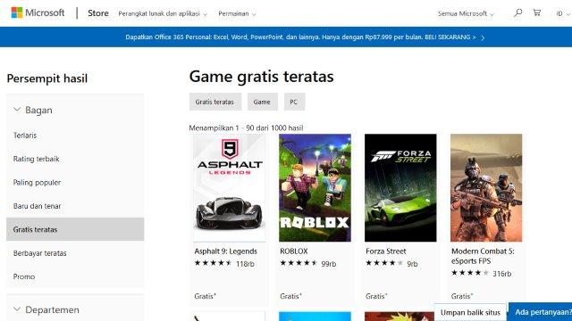 Microsoft Store download game pc gratis