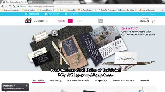 Print Business Cards Online at GOGOPRINT! - I Blog My Way