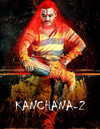 Poster Of Kanchana 2 (Muni 3) 2016 Hindi Dubbed 350MB HDRip 480p Free Download Watch Online Worldfree4u