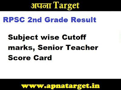 RPSC 2nd Grade Result 2019-20-