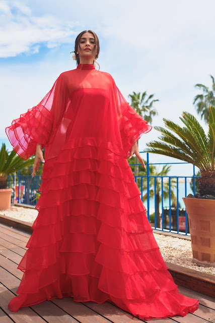 Sonam Kapoor in red dress by Maison Valentino