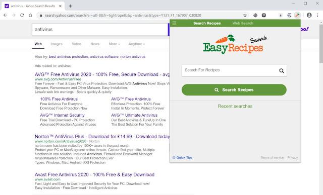 Easy Recipes Search (Hijacker)