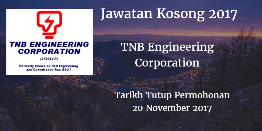 Jawatan Kosong TNEC 20 November 2017