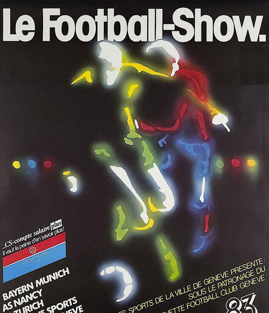 a Heinz Heimann 1983 poster about soccer, Le Football Show
