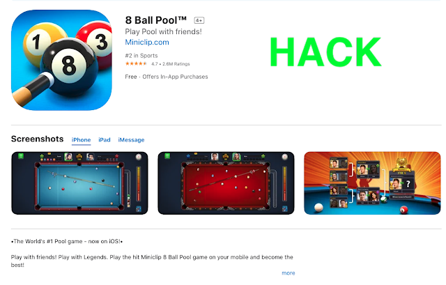 8 ball pool hack for iphone and ipad