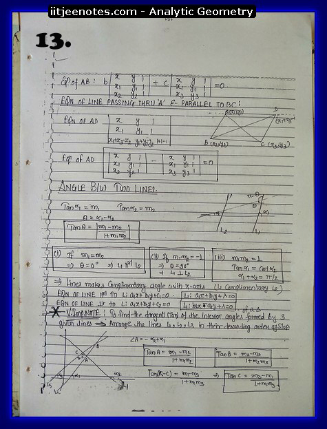 analytic geometry notes1