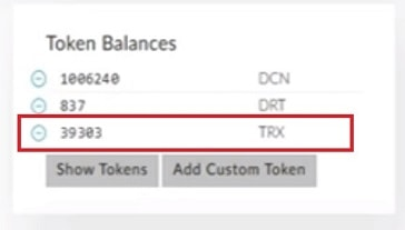 saldo moneda tron trx en my ether wallet