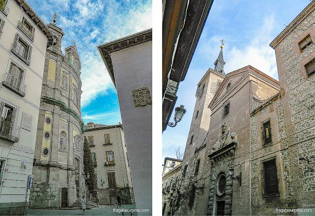 Madri dos Áustrias: Calle San Justo e Igreja de San Ginés