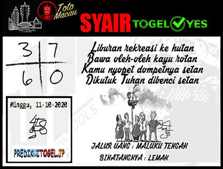 Syair Togel Yes Macau Minggu 11 Oktober 2020