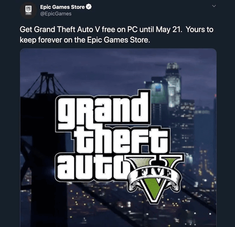 Original announcement tweet that was deleted