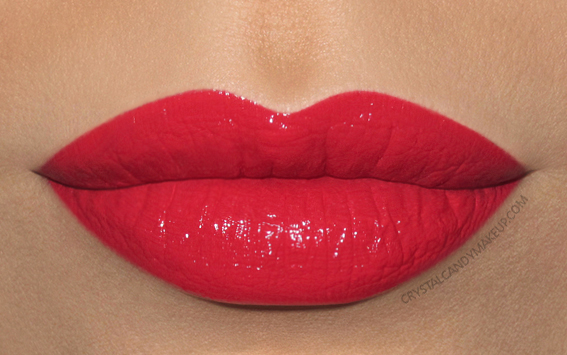 Buxom Va-Va-Plump Shiny Liquid Lipstick Tropicolor Tease Paradise Found Swatch