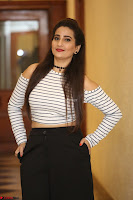 Manjusha in sleevelss crop top and black skirt at Darshakudu pre release ~  Exclusive Celebrities Galleries 109.JPG