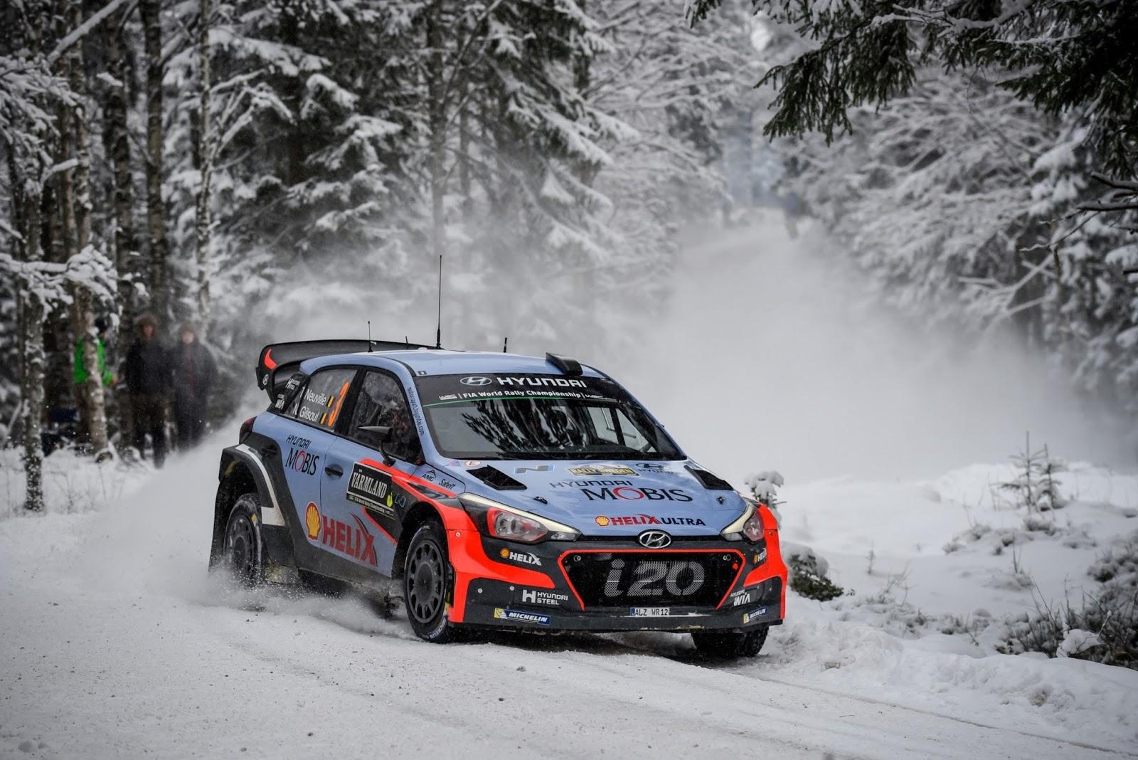 160215 WRC%2BSweden%2BPodium%2B2 Η Hyundai Motorsport κατέκτησε τη 2η θέση στο Ράλι Σουηδίας Hyundai, Hyundai i20, Hyundai i20 WRC, Rally, videos, WRC