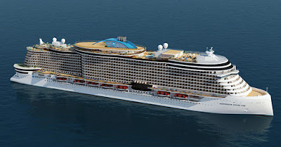 Artists Rendering of Norwegian Cruise Line's Leonard Class vessel expected in 2022