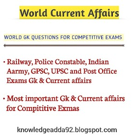 World Gk Questions For Competitive Exams - Knowledge Adda