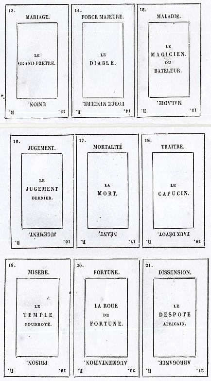 Etteilla Timeline and Etteilla card Variants - background