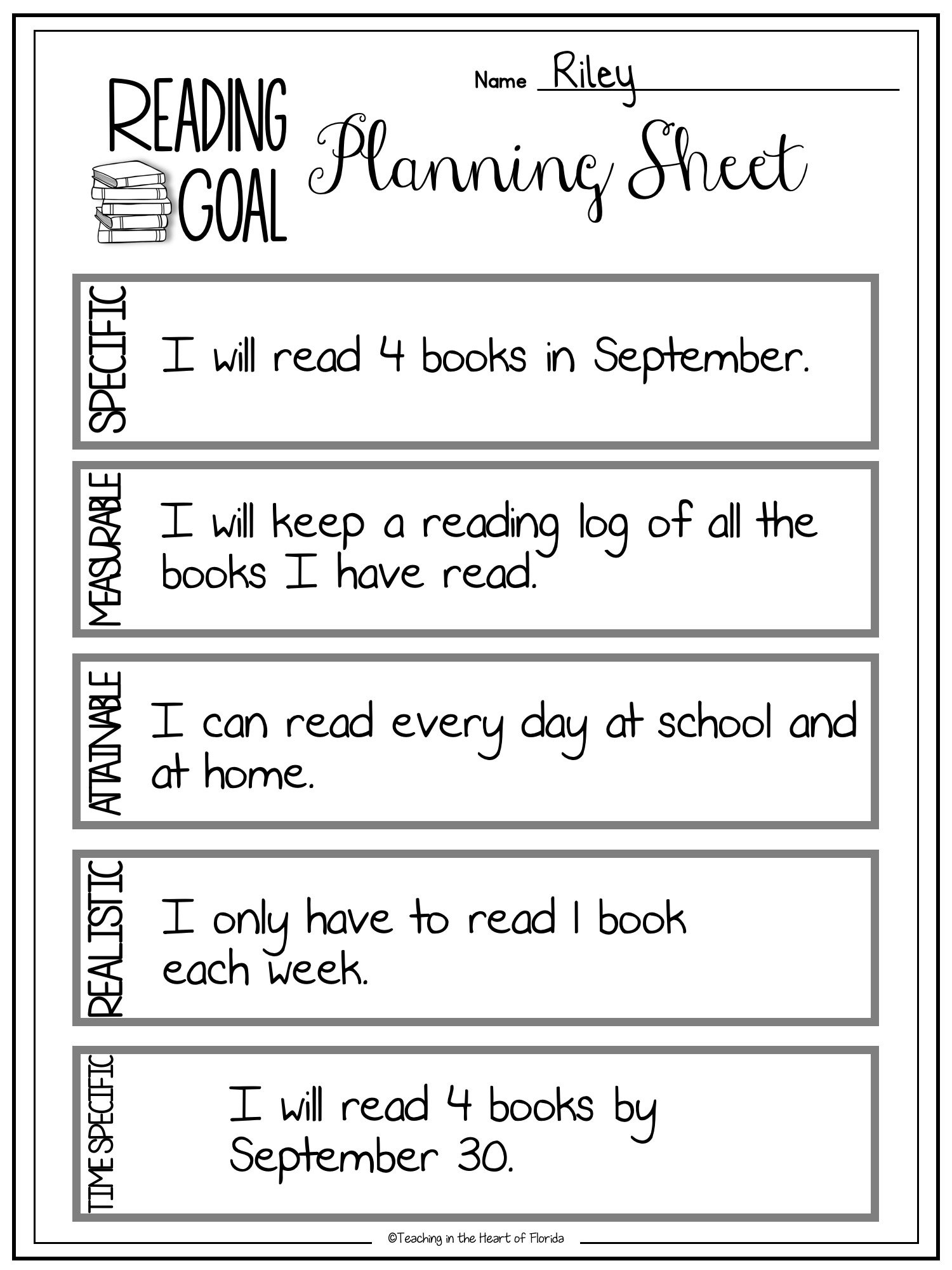Smart Goals Using Goal Setting Worksheets To Empower