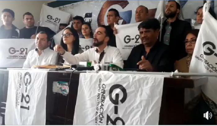 Los coordinadores nacionales de G21 calificaron la alianza con Mesa como un
