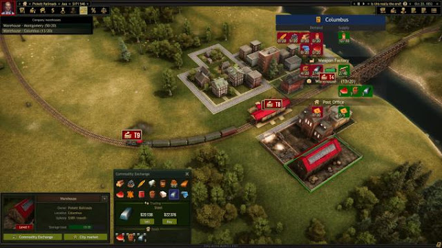 Railroad Corporation is a tycoon strategy about the 19th century in North America in the days of steam engines.