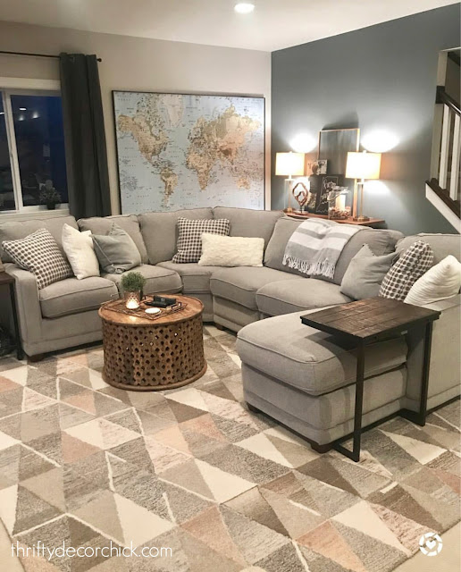 Large sectional sofa family room