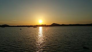 Schöner Sonnenuntergang auf den Kornaten Kroatien