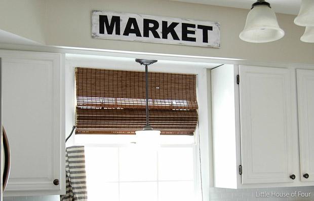Easy DIY Market sign