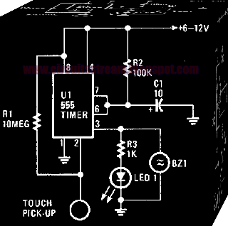 Electronic Time On Touch Switch Circuit Diagram