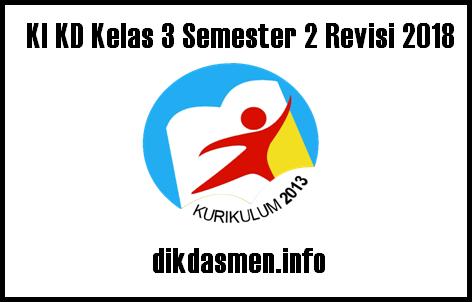 KI KD Tematik Kelas 3 Semester 2