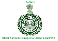 HSSC Agriculture Inspector Admit Card