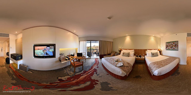 'Superior' Room with Desert View - Sails Resort Uluru Hi-Fidelity 360 Panorama Photography by Kent Johnson