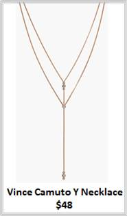 Sydney Fashion Hunter - Rose Gold - Vince Camuto Y Necklace