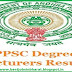 APPSC Degree Lecturer Results 2017 Andhra Pradesh DL Exam Marks List