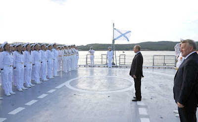 Vladimir Putin on board of new project 20380 corvette.