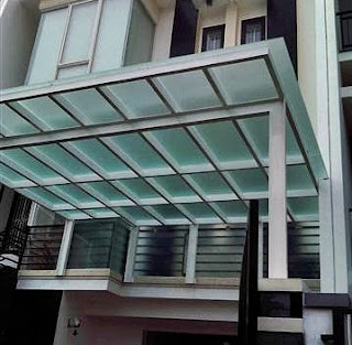 Contoh Motif Gambar Model Desain Kanopi Teras Rumah Minimalis Atap Polycabonate