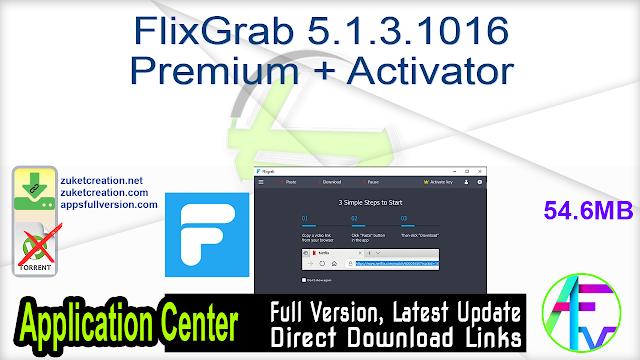 FlixGrab 5.1.3.1016 Premium + Activator