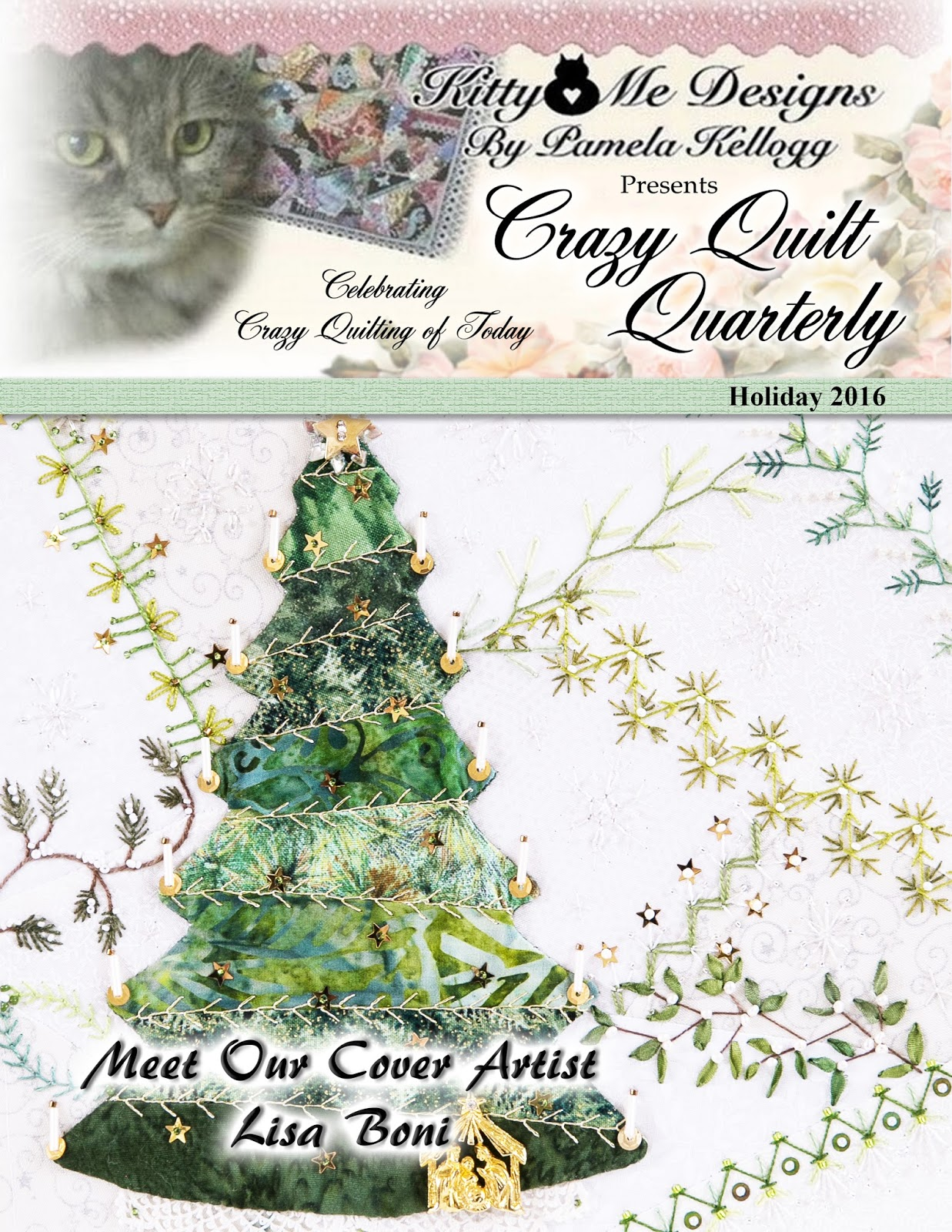 Crazy Quilt Quarterly Holiday 2016 issue