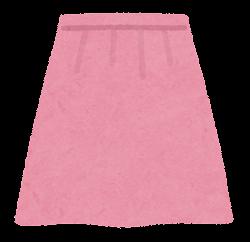 スカートのイラスト(ピンク)