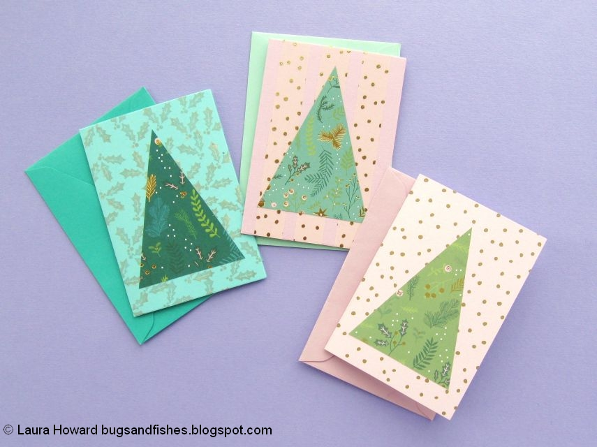 Bugs And Fishes By Lupin Easy Diy Christmas Card Ideas 4 Christmas Trees