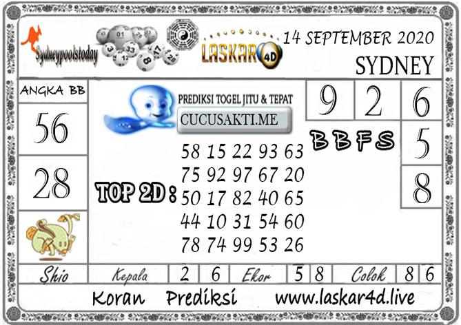 Prediksi Togel SYDNEY LASKAR4D 14 SEPTEMBER 2020