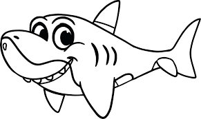 Cute Shark Coloring Sheet Animals Images