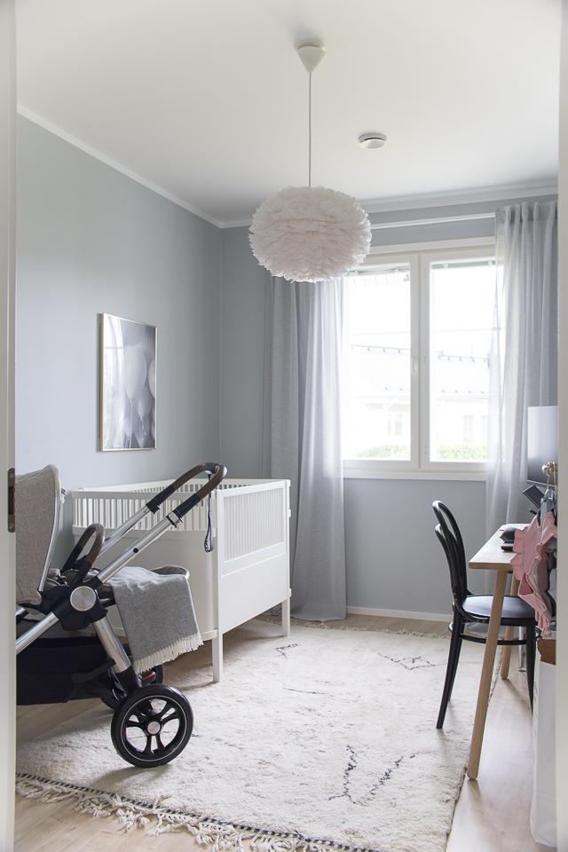 Villa H, lastenhuoneen sisustus, Sebra Interior sänky, sisustus