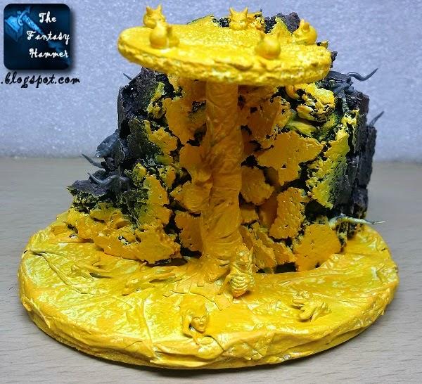 Warhammer diorama lava base WiP2b
